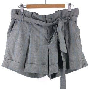 Anthropologie Taikonhu Plaid Belted Shorts